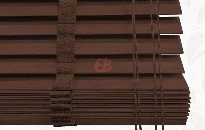 Veneciana de madera 25 mm Nogal barniz mate