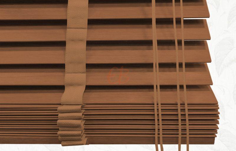 Veneciana de madera 25 mm Cinta Roble tinte 6222