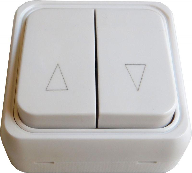 pulsador doble para estor motorizado mecánico color blanco