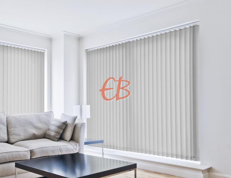 cortina vertical traslucida lumen color gris