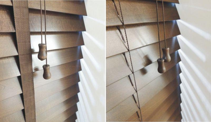 veneciana de madera lama 50 mm nogal