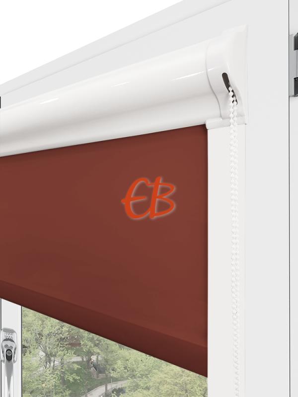 estor para ventana minibox tejido tamizador marrón cobre