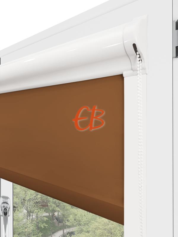estor para ventana minibox tejido tamizador marrón oscuro