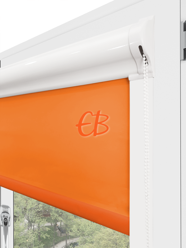 estor para ventana minibox tejido tamizador naranja