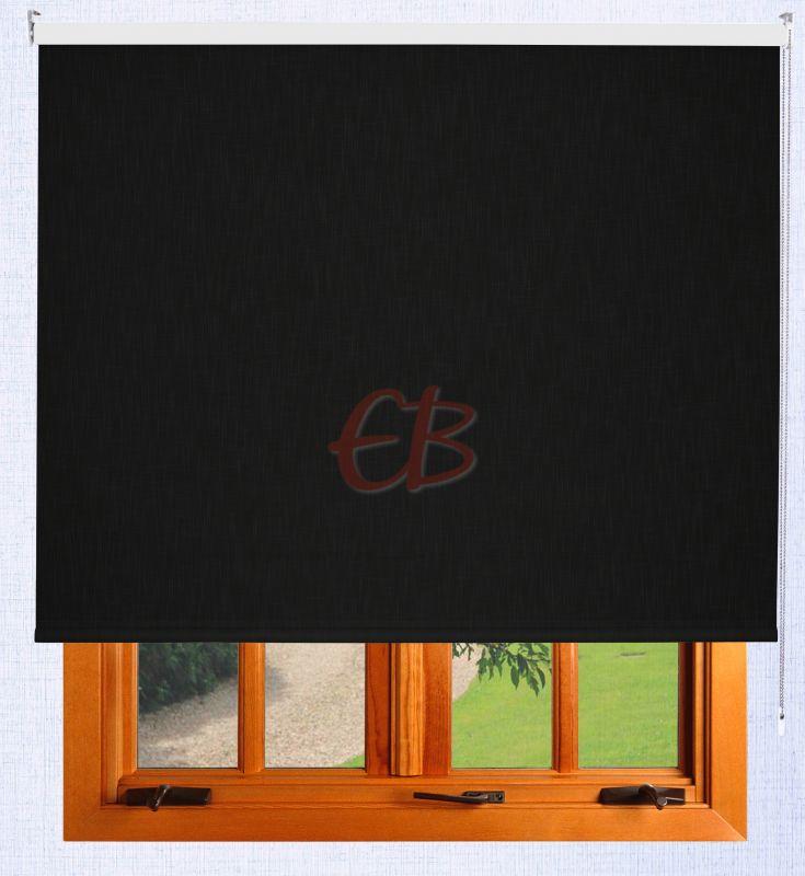 Estor enrollable Shantung blackout Negro 2400