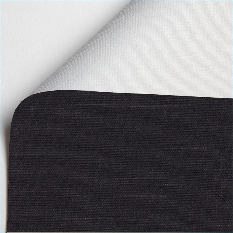 estor enrollable shantung blackout color negro