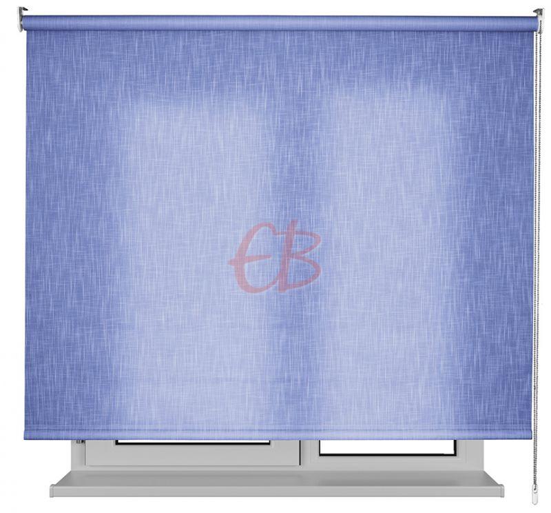 Estor enrollable traslucido Karina efecto tela azul SH06