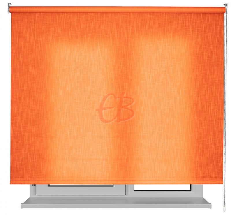 Estor enrollable traslucido Karina efecto tela naranja 1117