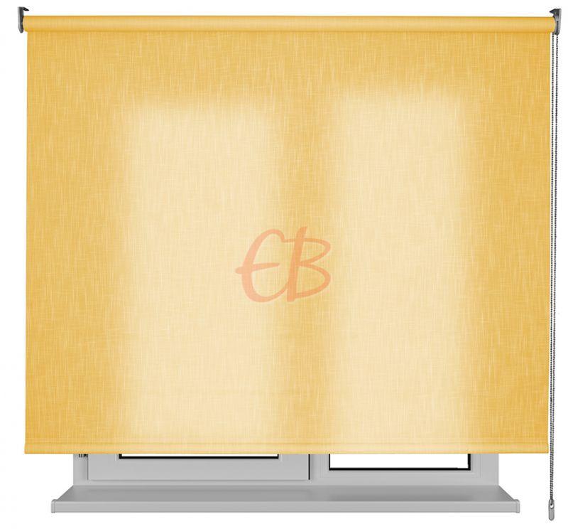 Estor enrollable traslucido Karina efecto tela amarillo SH04