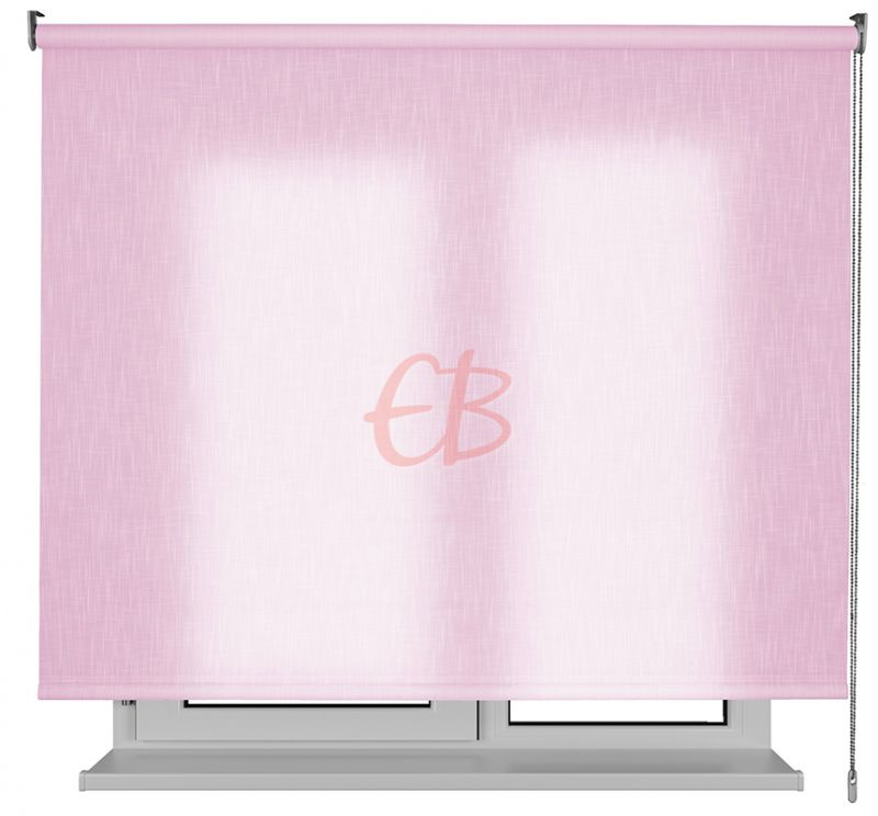 Estor enrollable traslucido Karina efecto tela rosa SH07
