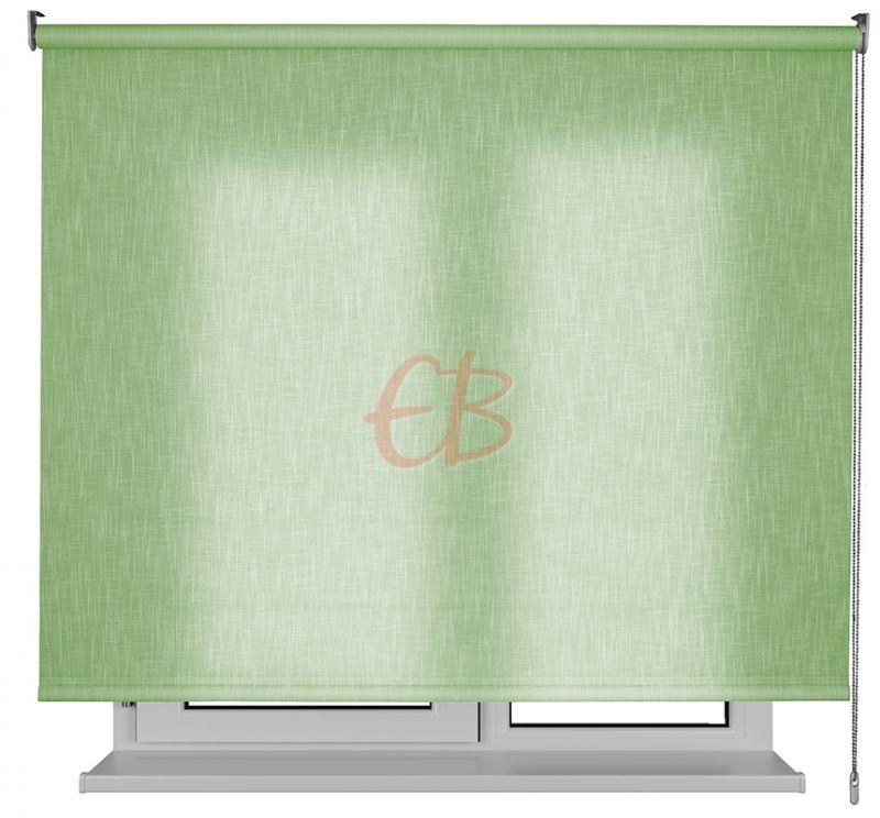 Estor enrollable traslucido Karina efecto tela verde SH09