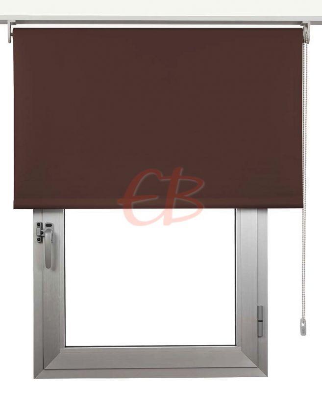 Estor enrollable Opaco Eclipse Fibra de Vidrio marrón 1509