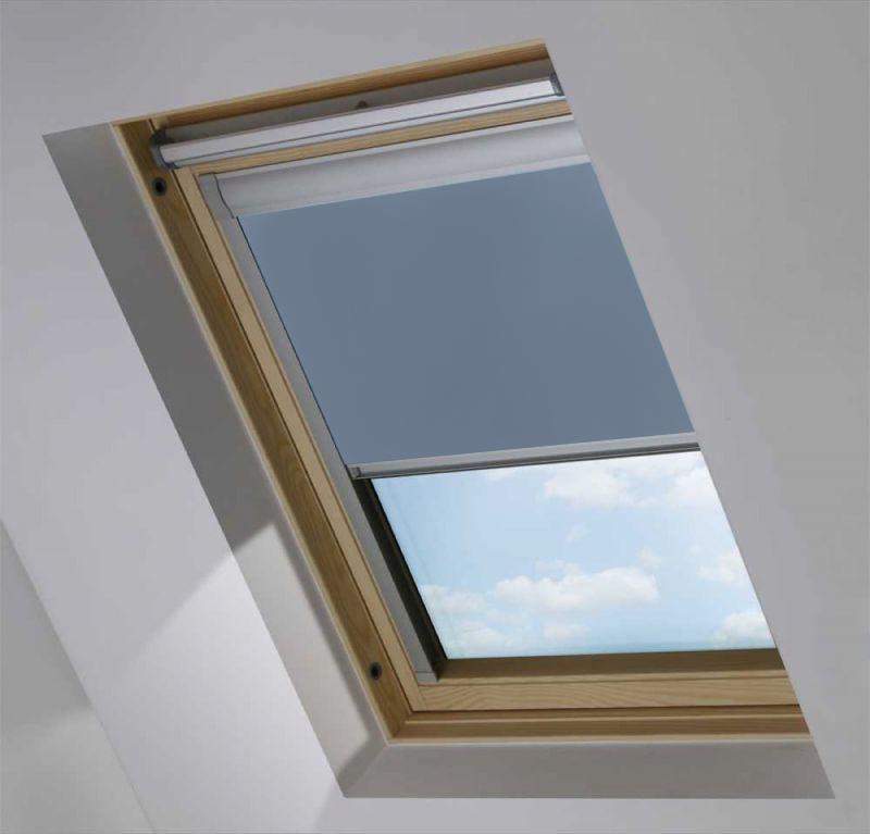 Cortina de tejado para ventana Roto color Azul Cielo Opaco 917149-0231
