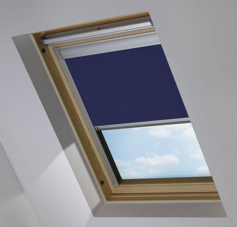 Cortina para ventana de tejado modelo Roto Azul marino Opaco 917149-0224