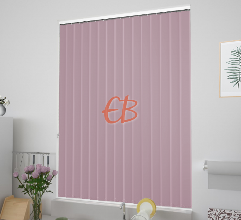 cortinas verticales tejido opaco eclipse color Rosa