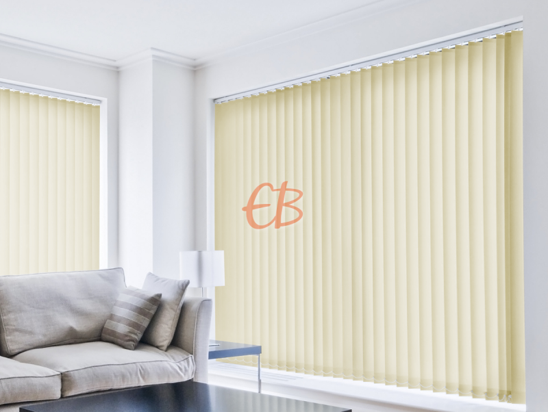 cortina vertical loneta resinada resistente color arena