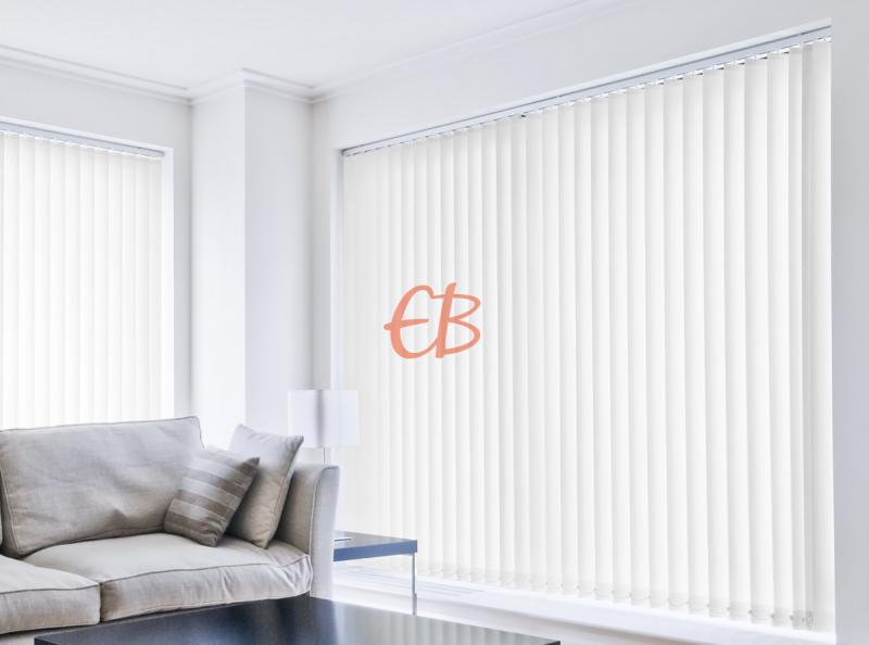 cortina vertical loneta resinada resistente color blanco