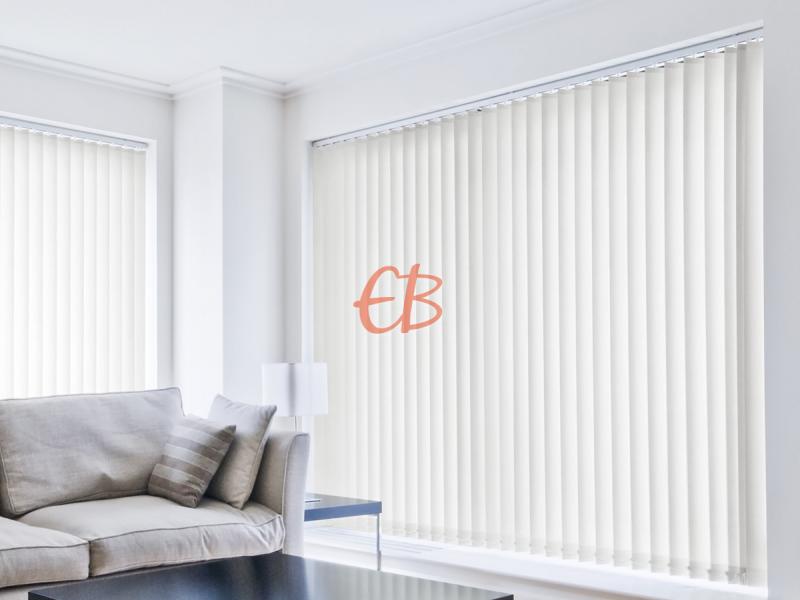 cortina vertical loneta resinada resistente color crudo