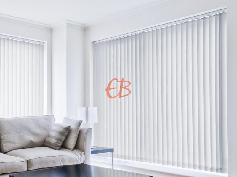 cortina vertical loneta resinada resistente color gris perla