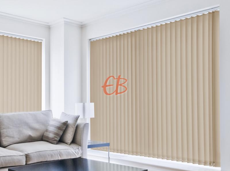 cortina vertical loneta resinada resistente color tierra 1027