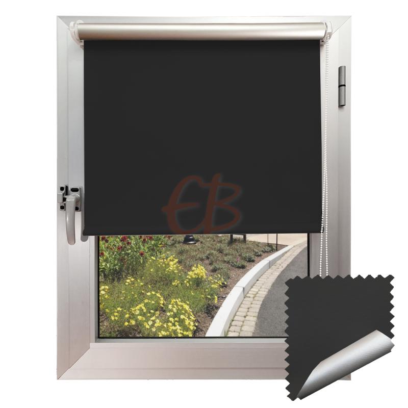 Mini estor sin taladrar Foscuritex Reflector Negro/Reflector 3510