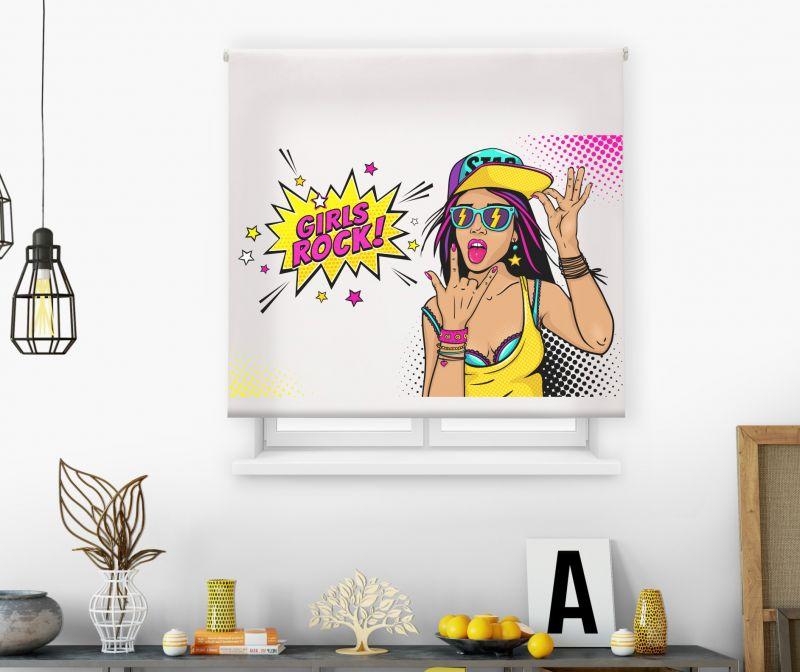 estores enrollables juveniles impresos modelo pop art 10