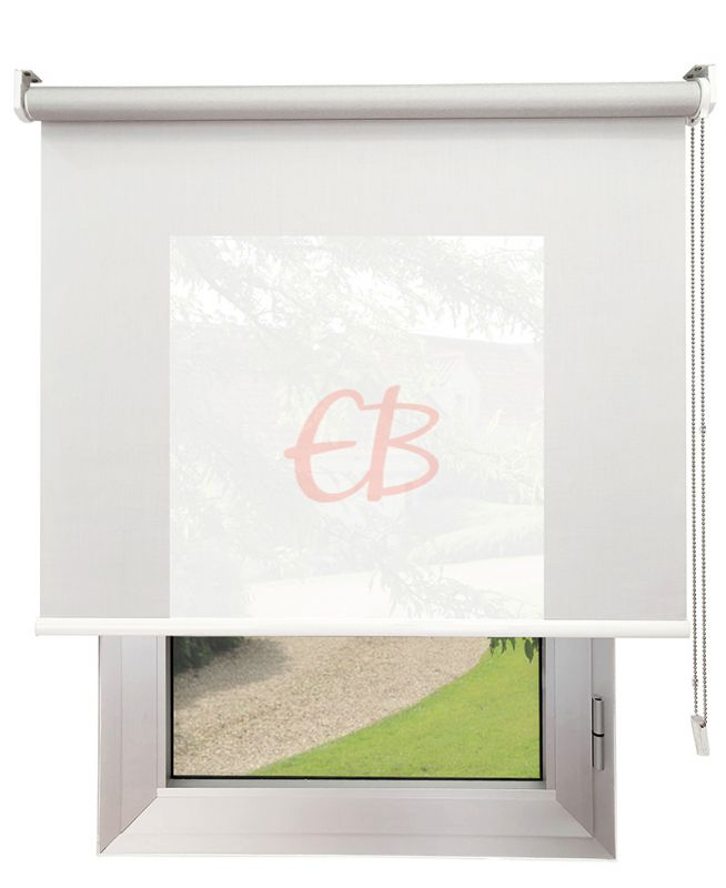 Estor enrollable Screen TREVIRA 3% REFLECTOR Blanco perla 40973/10192