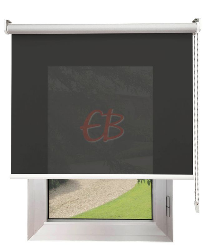 Estor enrollable Screen TREVIRA 3% REFLECTOR Gris oscuro 40973/10378