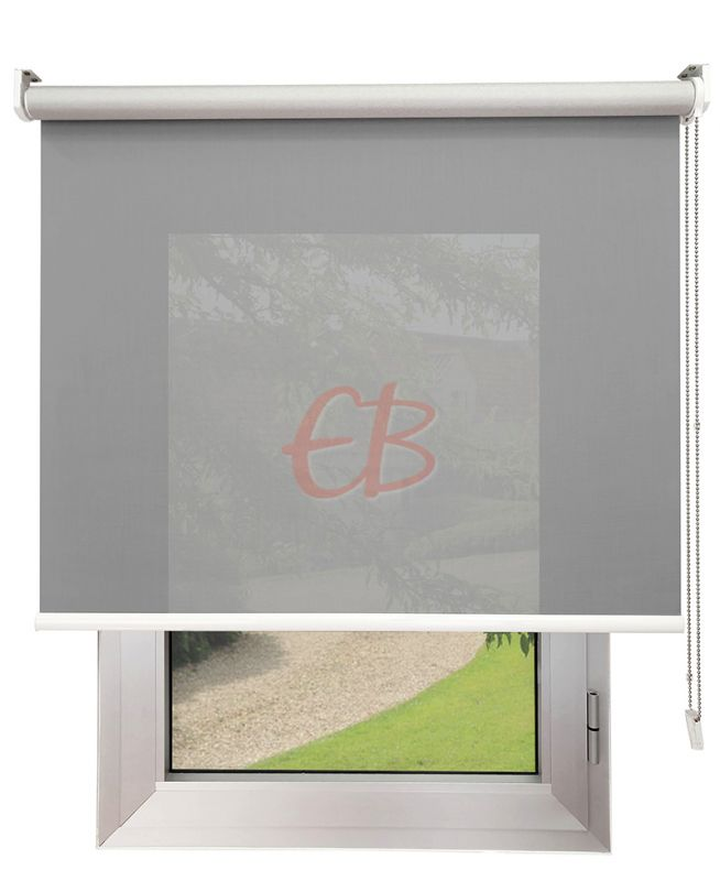 Estor enrollable Screen TREVIRA 3% REFLECTOR Gris 40973/10380