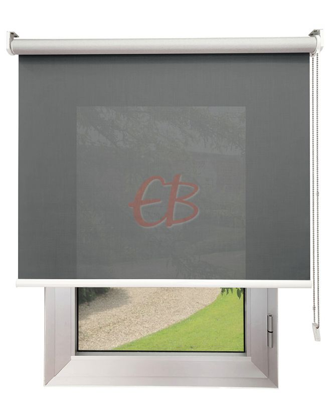 Estor enrollable Screen TREVIRA 3% REFLECTOR Gris Acero 40973/10950