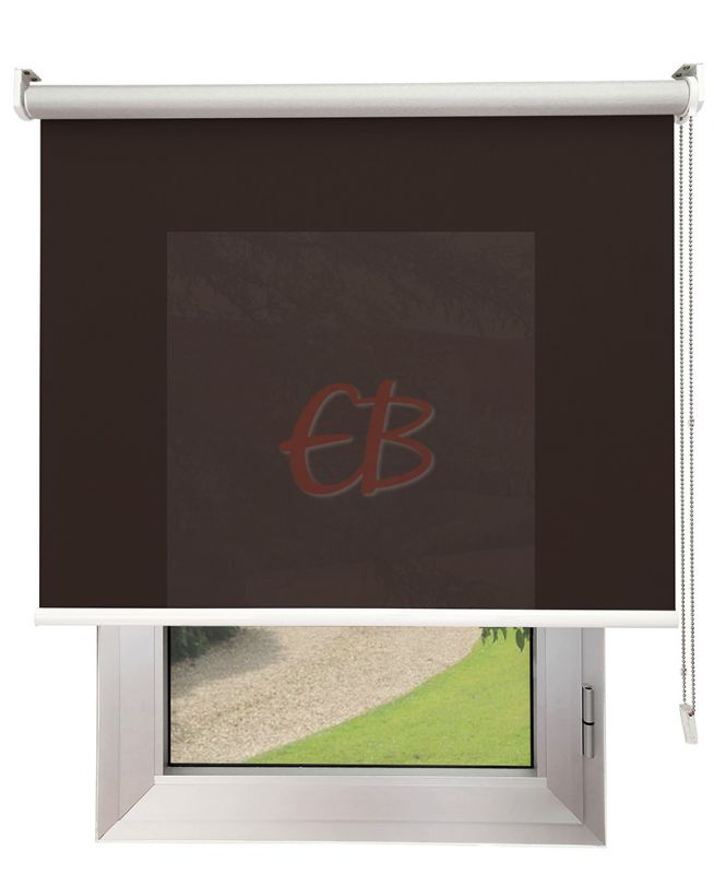 Estor enrollable Screen TREVIRA 3% REFLECTOR Marrón 40973/10379