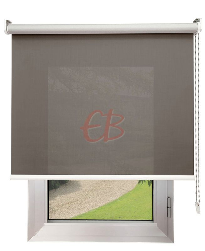 Estor enrollable Screen TREVIRA 3% REFLECTOR Marrón grisaceo 40973/10951