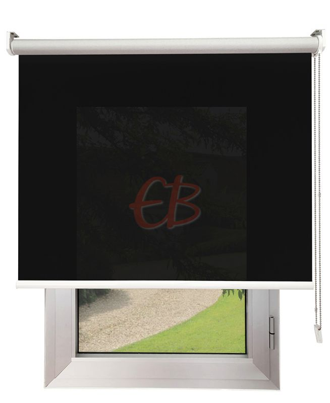 Estor enrollable Screen TREVIRA 3% REFLECTOR Negro 40973/6090