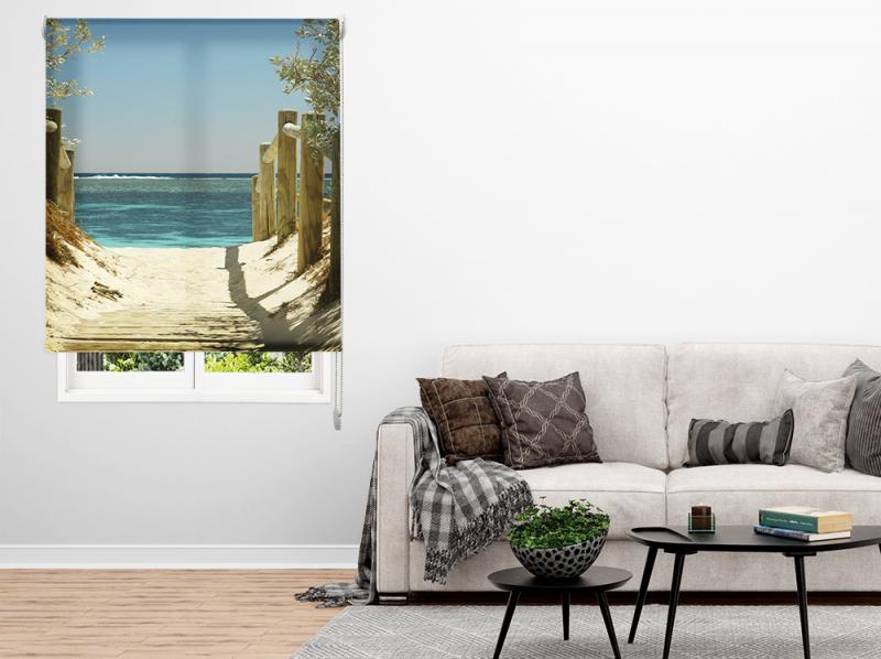 Estor Enrollable Impresión Digital Acabado Paisajes Playa