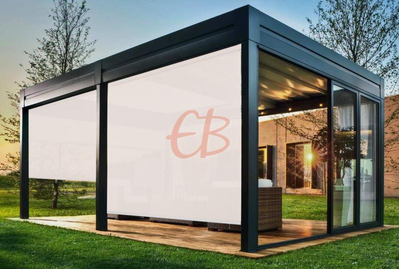 Toldo vertical exterior screen 3500 Blanco lino 5% T S30 01