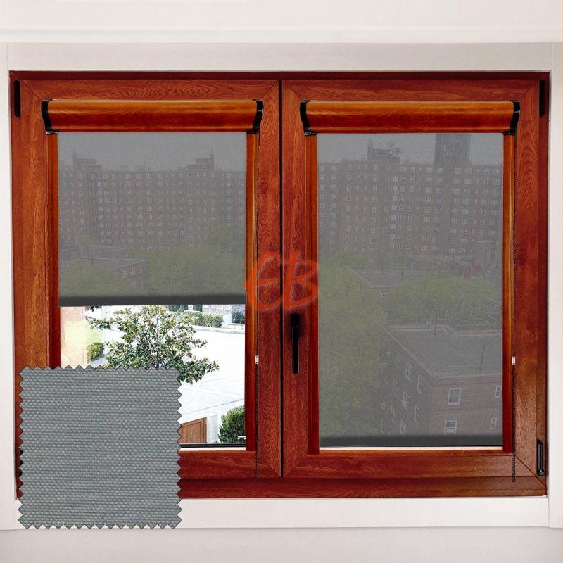 Estor marco ventana Minibox Ceniza MM11