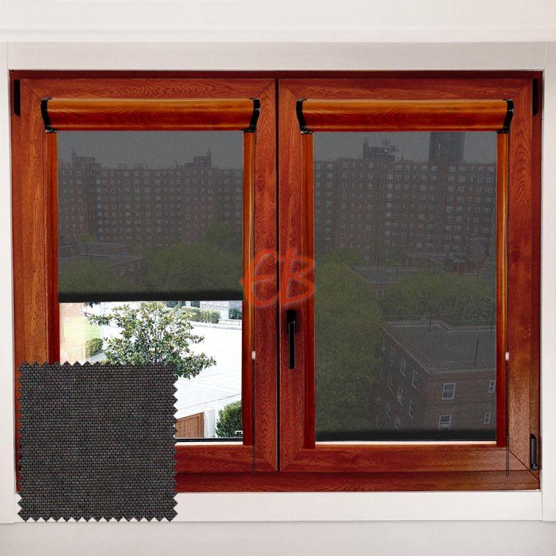 Estor marco ventana Minibox Negro MM13