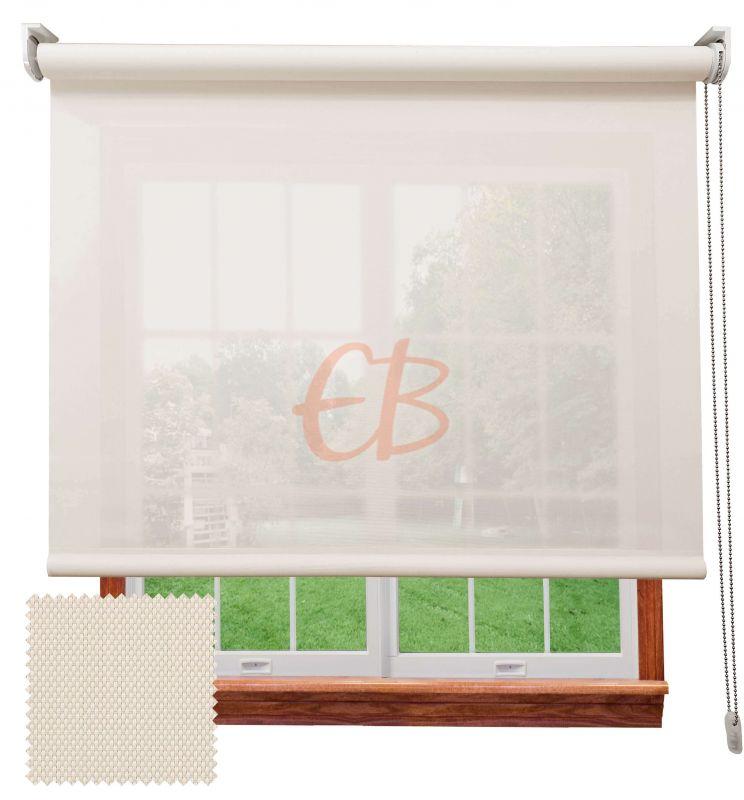 Estor screen visibilidad alta 10% Blanco lino 9002