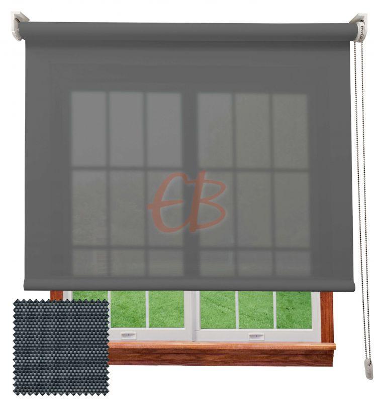 Estor enrollable screen 3500 visibilidad baja 3% Antracita Gris 8307