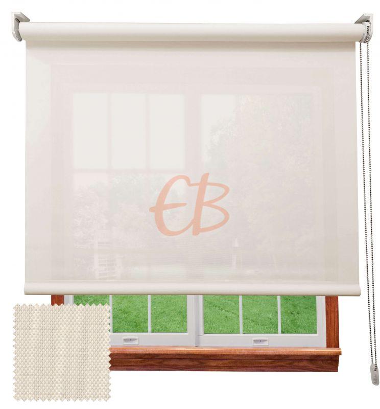 Estor enrollable screen 3500 visibilidad baja 3% Blanco lino 8302