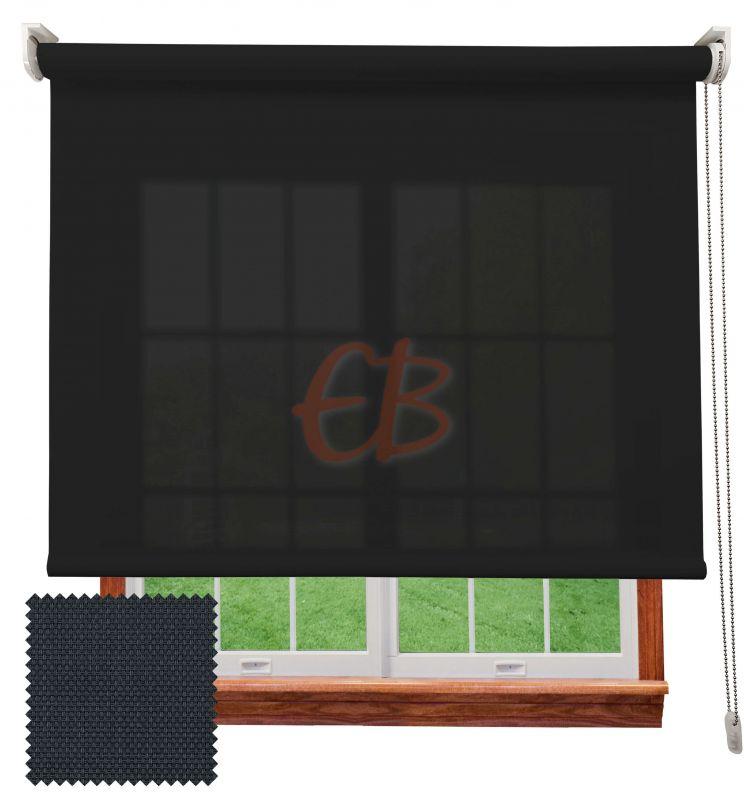 Estor enrollable screen poliéster 3500 Visibilidad muy baja 1% Antracita  8109