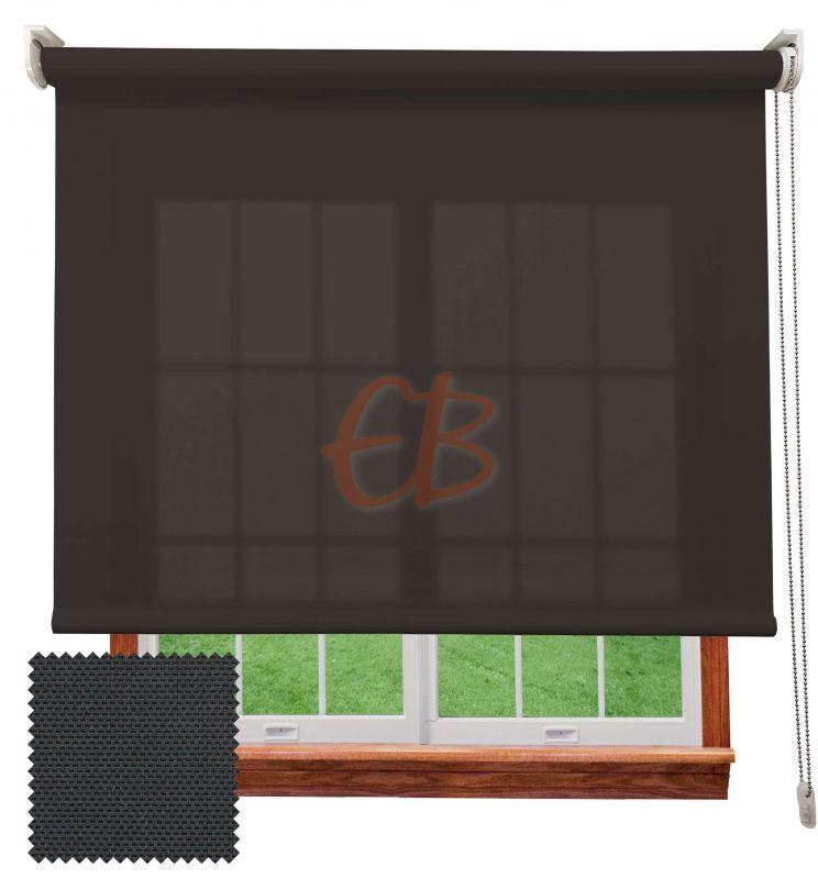 Estor enrollable screen poliéster 3500 Visibilidad muy baja 1% Antracita Bronce 8108