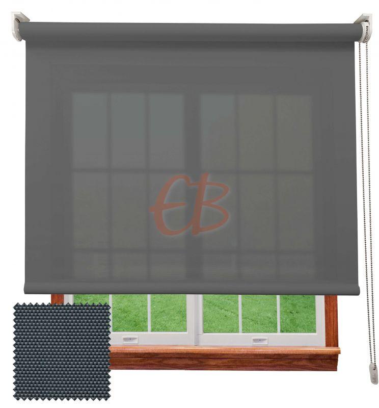 Estor enrollable screen poliéster 3500 Visibilidad muy baja 1% Antracita gris 8107
