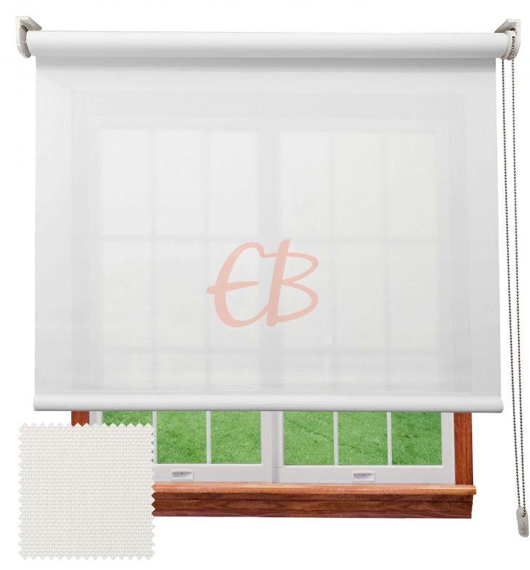 Estor enrollable screen poliéster 3500 Visibilidad muy baja 1% Blanco 8101