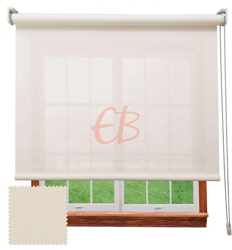 Estor enrollable screen poliéster 3500 Visibilidad muy baja 1% Blanco lino 8102