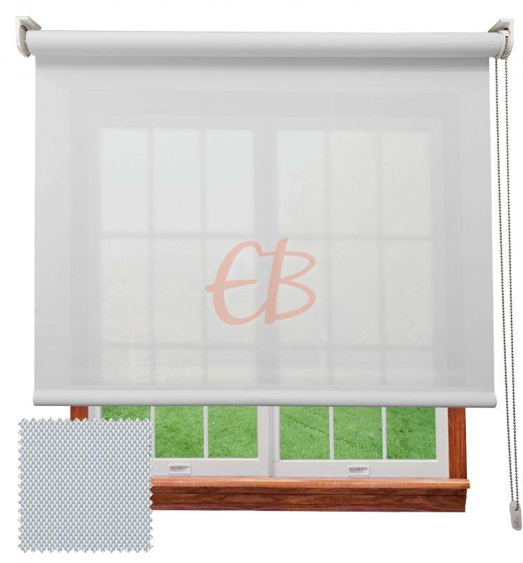 Estor enrollable screen poliéster 3500 Visibilidad muy baja 1% Blanco Perla 8104