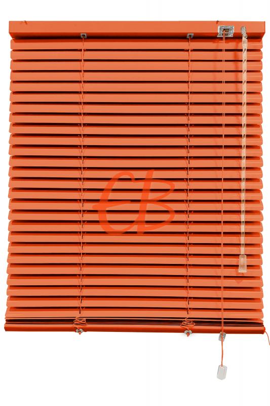 Persiana veneciana de aluminio color naranja