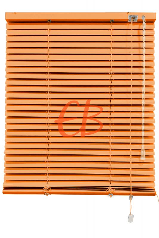 Persiana veneciana de aluminio color naranja suave