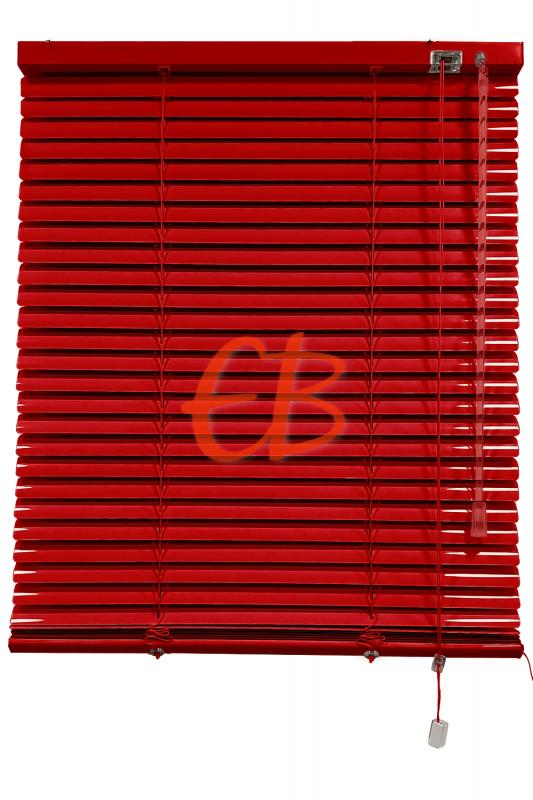 Persiana veneciana de aluminio color rojo