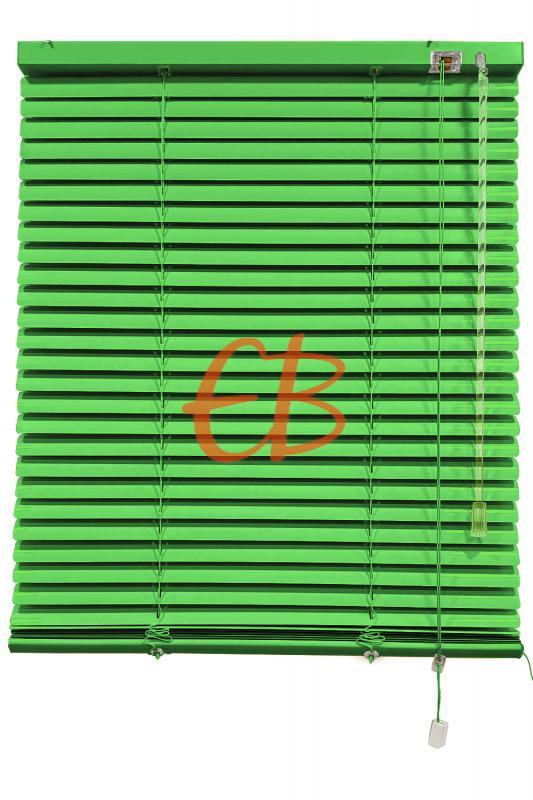 Persiana veneciana de aluminio color verde
